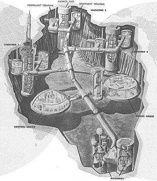 Il complesso di silos sotterranei del Titan I è composto da una serie di tunnel che connettono silos multipli ad edifici sotterranei di controllo e comunicazione.