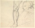 "Compositional Study for ""Comus–The Measure"" (recto); Studies of a Man's Right Leg, after Titian, and a Profile, for ""Comus–The Measure"" (verso) MET DP829492.jpg"