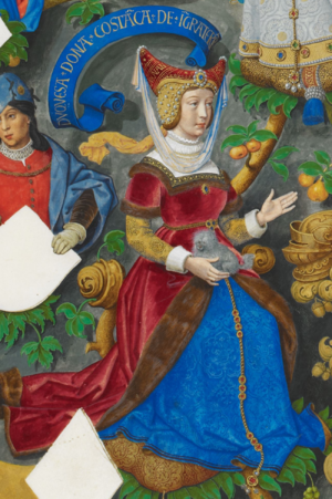Constance of Castile, Duchess of Lancaster - Image: Constança de Castela, Duquesa de Lencastre The Portuguese Genealogy (Genealogia dos Reis de Portugal)