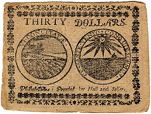 Continental Currency $30 banknote reverse (June 22, 1776).jpg