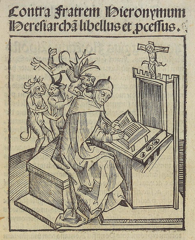 Title page from Contra fratrem hieronymum heresiarcham