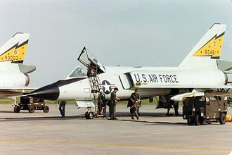 Convair F-106 Delta Dart - F-106A Delta Darts from 5 FIS at CFB Moose Jaw in 1982