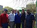Cook Co Board President Toni Preckwinkle with Dan Tom and Kevin credit Kevin Davis (13984716027).jpg