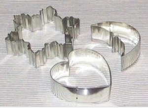 Cookie cutter - Some simple cutout cookie cutters