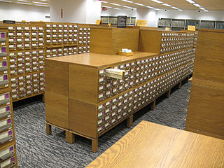 Traditional card catalog