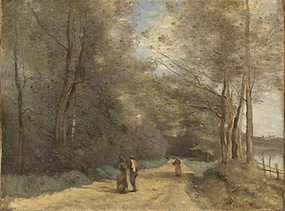 Wooded Path near Ville d'Avray