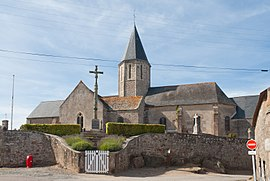 12th-century parish church with a 15th-century tower, dedicated to Our Lady and Saint Marcouf[1]
