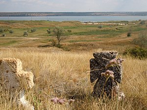 Black Sea Cossack Host - Cossacks' graves in the steppe, SW Ukraine