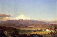 Cotopaxi (1855 with house) Frederic Edwin Church.jpg