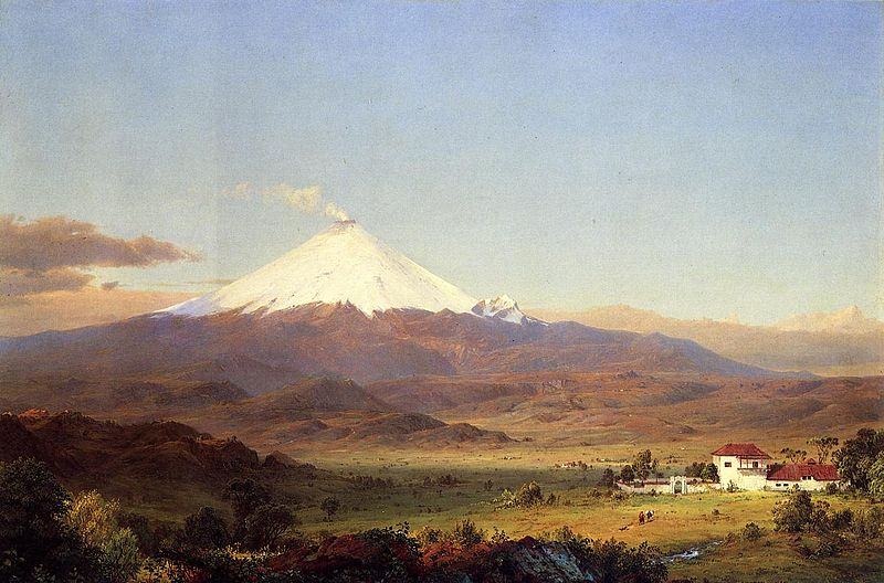 File:Cotopaxi (1855 with house) Frederic Edwin Church.jpg