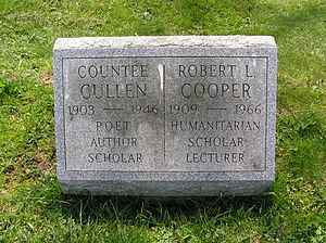 Countee Cullen - The grave of Countee Cullen in Woodlawn Cemetery
