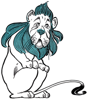 fictional lion from L. Frank Baum