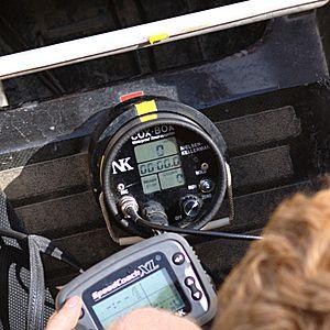 Cox box - A Nielsen Kellerman cox box in a rowing shell