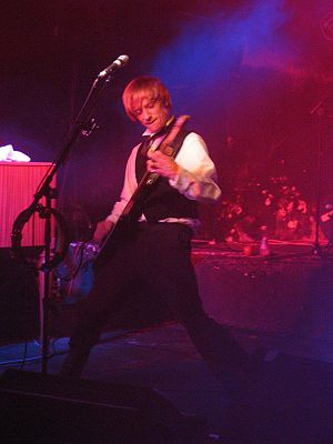 Crispian Mills -  Mills performing with Kula Shaker in Milan in 2007.