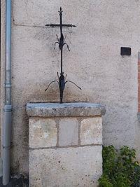 Croix sur socle de pierre à Bournazel.JPG