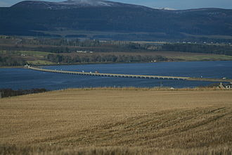 Cromarty Firth - Cromarty Bridge taking A9 across the Firth east of Dingwall