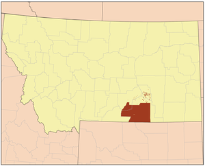 Crow Indian Reservation - Image: Crow I Rmap