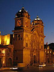 The Church of La Compañia on the Plaza de Armas in Cusco