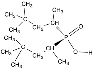 Phosphinate - chemical structure of a dialkylphosphinic acid called Cyanex 272.