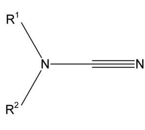Cyanimide - The structure of a typical cyanimide.