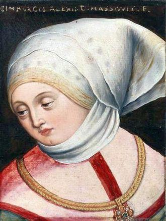 Cymburgis of Masovia - Posthumous portrait by Anton Boys, c. 1580