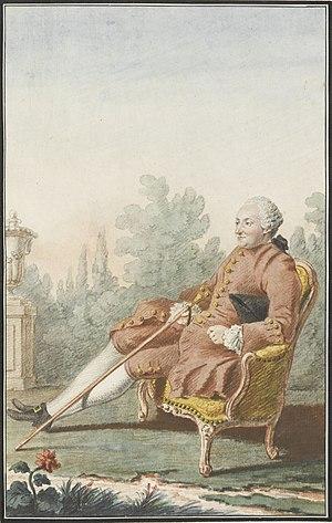 Louis Carrogis Carmontelle - A portrait of Baron d'Holbach