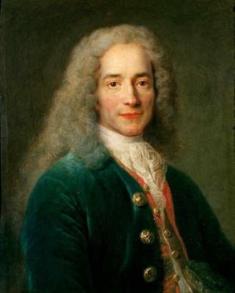 Deism - Voltaire at age 24  by Nicolas de Largillière