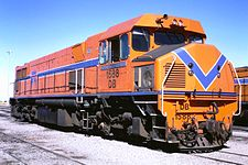 DB1588 at Forrestfield in April 1986 in the orange & blue livery.