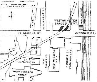 Parliament Square - Streets around Parliament Square in 1888