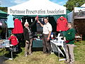 DPA stand at Chagford Fair, with 2nd place Rosette.jpg