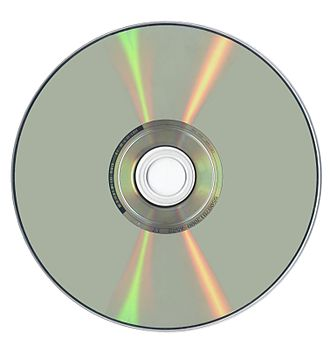 DVD - The data side of a DVD manufactured by Sony DADC
