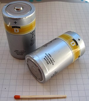 D battery - D cell batteries.