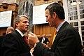 Dagfinn Hoybraten, Norges delegation till Nordiska radet och Jens Stoltenberg, Norges statsminister, samtalar under Nordiska radets session i Kopenhamn 2006.jpg