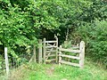 Damaged gate, Kirkstall Valley Nature Reserve - geograph.org.uk - 241623.jpg