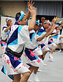 Dancers perform a traditional Japanese Awa-Odori folk dance during a cultural activity for exercise Yama Sakura 61 at Camp Itami, Osaka, Japan 120125-A-EJ272-002.jpg