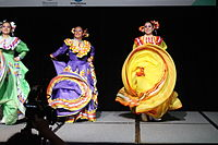 Dancing at the Wikimania 2015 Opening Ceremony IMG 7606.JPG