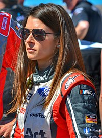 Danica Patrick Danica Patrick - 2017 Camping World 500 - Driver's Parade on Pit Road.jpg