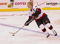 Captain Daniel Alfredsson improved his play in the 2007 playoffs, tallying a playoff leading 22 points