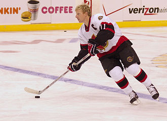 Ottawa Senators - Daniel Alfredsson played together with Jason Spezza and Dany Heatley, forming the CASH line. They led the Senators to their first Finals appearance.