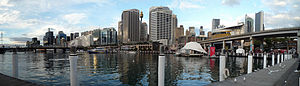 Cockle Bay (Sydney) - Cockle Bay and Sydney CBD skyline