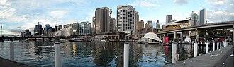 Cockle Bay (Sydney) - Cockle Bay and Sydney CBD skyline