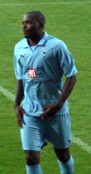 Darren Bent - Bent playing for Tottenham Hotspur in 2008