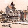 David Alois Schmid Schlössli und Münzstätte in Aarau um 1812.jpg