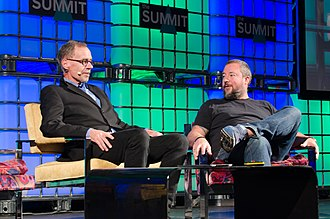 David Carr (journalist) - Carr in conversation with Vice co-founder Shane Smith at the 2013 Web Summit