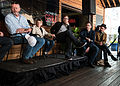 David Morse, Rainn Wilson, Elijah Wood at Fast Company Grill SXSW 2015.jpg