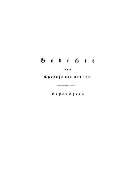 File:De Gedichte von Therese von Artner (Erster Theil).djvu