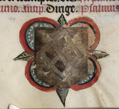 De Grey Hours f.168.r. Arms of the Harrington family.png