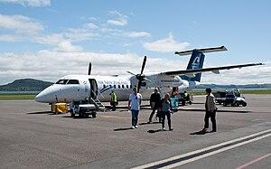 Rotorua Regional Airport - Passengers disembarking from a Bombardier Q300, October 2010