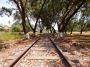 Burma Railway - Abandoned section of Burma Railway in Thanbyuzayat, Burma