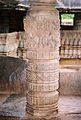 Decorative half pillar at Nagareshvara temple in Bankapura 2.JPG